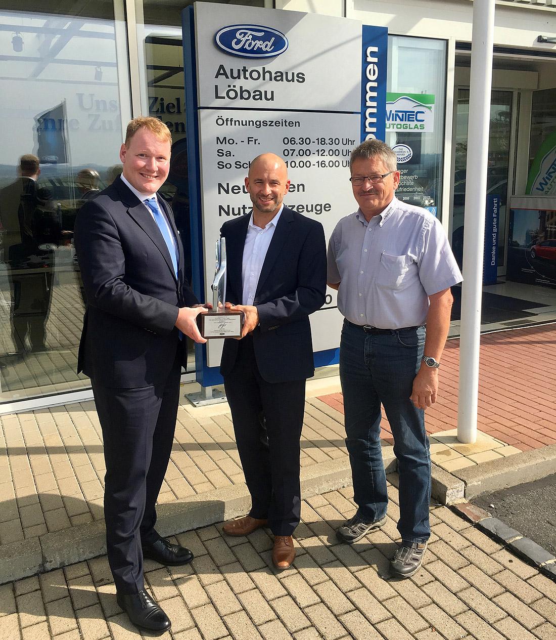 Autohaus Löbau Auszeichnung Ford Chariman's Award 2017