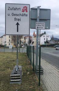 Autohaus Löbau Filiale Zittau Anfahrt über Rietschelstraße